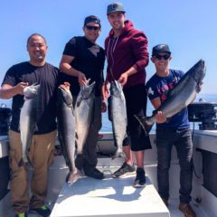 Successful Salmon Fishing Charter